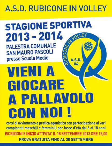 Iscrizioni stagione Rubicone In Volley 2013-2014