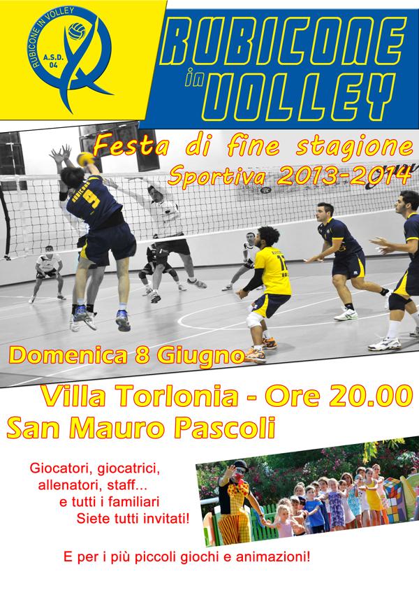 Festa di fine stagione sportiva 2014 del Rubicone In Volley