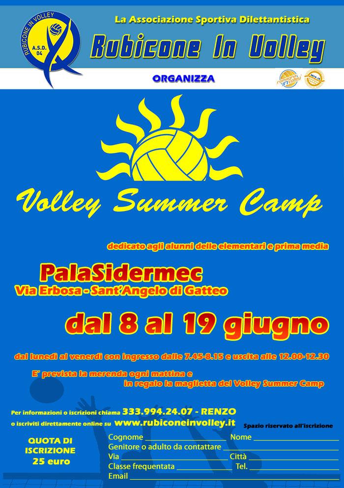 Volley Summer Camp 2015 - Rubicone In Volley - volantino edizione Sant'Angelo di Gatteo