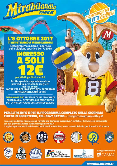 Locandina Mirabilandia apertura stagione 2017-2018