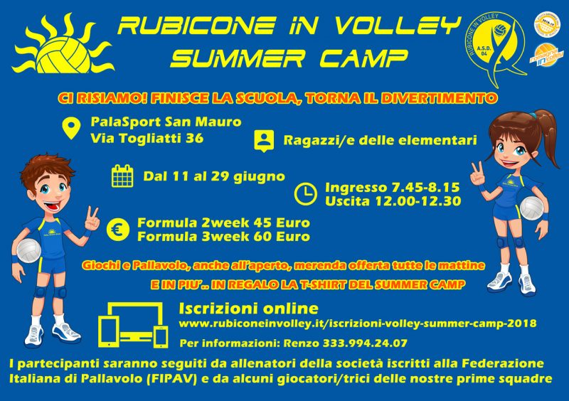 Volley Summer Camp 2018 - Rubicone In Volley - Campus estivo pallavolo